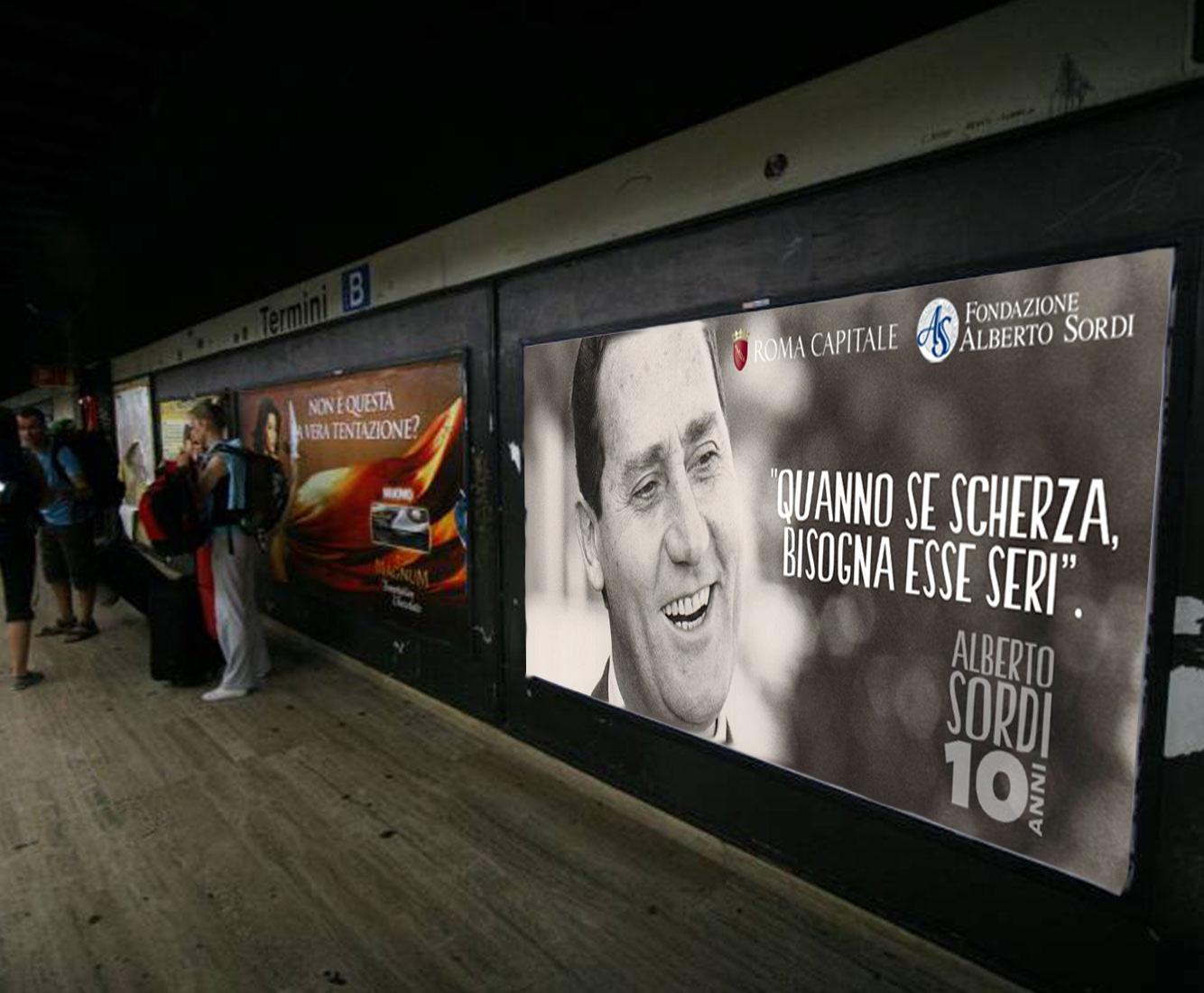 Alberto Sordi 10 Anniversario Metropolitana